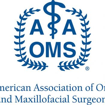 American Association of Oral and Maxillofacial Surgeons logo in blue
